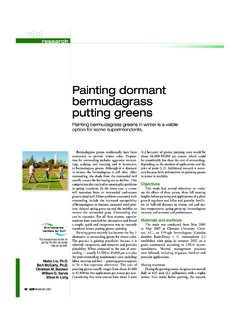 Painting dormant bermudagrass putting greens - Green …