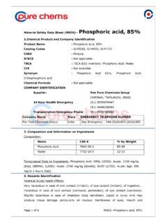 Certificate Of Analysis For Phosphoric Acid Phosphoric Acid Pdf4pro