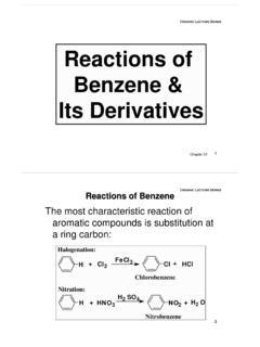 Reactions of Benzene & Its Derivatives