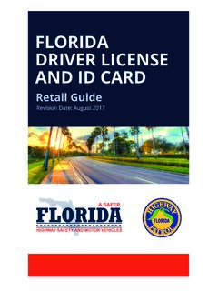 FLORIDA DRIVER LICENSE AND ID CARD - Florida …