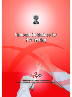 National Guidelines for HIV Testing - MoHFW