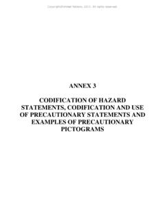 ANNEX 3 CODIFICATION OF HAZARD …