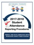 2018-2019 STUDENT ATTENDANCE REPORTING …