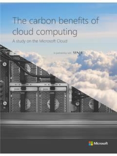 The carbon benefits of cloud computing