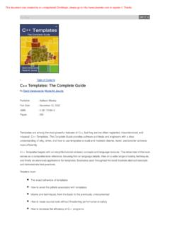 C++ Templates: The Complete Guide - Free