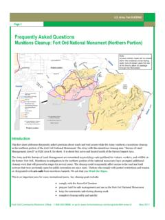 Frequently Asked Questions - Fort Ord