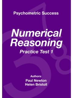 Numerical Reasoning - Psychometric Success