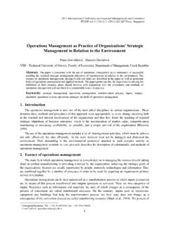 Operations Management as Practice of …