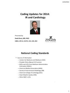 Coding Updates for 2014: IR and Cardiology - AAPC