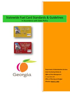 Statewide Fuel Card Standards & Guidelines