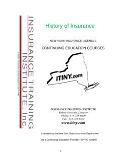 History of Insurance - Insurance Training Institute, Inc