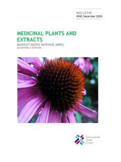 MEDICINAL PLANTS AND EXTRACTS - ITC