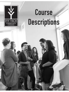 Course Descriptions - Ivy Tech Community College of …
