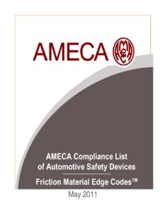 AMECA List of VESC V-3 Brake Friction Material Edge …