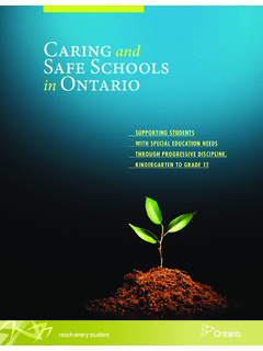 Caring and Safe Schools in Ontario - edu.gov.on.ca