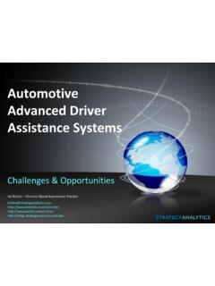 Automotive Advanced Driver Assistance Systems