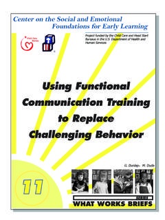 Using Functional Communication Training to …