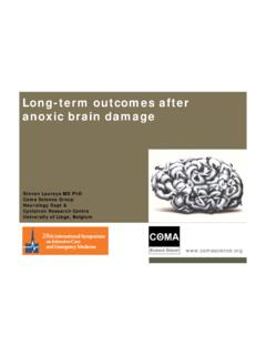 Long-term outcomes after anoxic brain damage