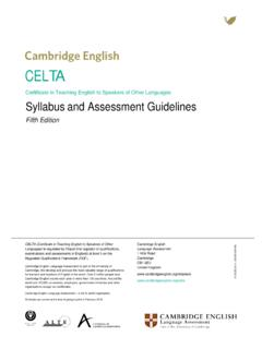 CELTA - Cambridge Assessment English