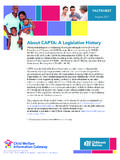 About CAPTA: A Legislative History - Child Welfare