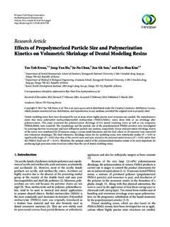 Research Article Effects of Prepolymerized Particle Size ...