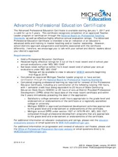 Advanced Professional Education Certificate - …