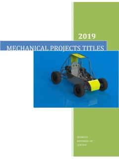 MECHANICAL PROJECTS TITLES - Technofist