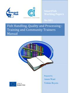 Fish Handling, Quality and Processing : Training and ...