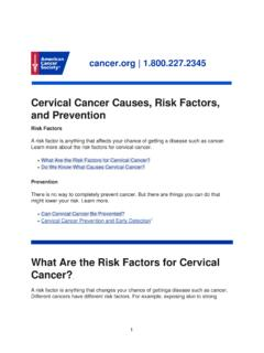 Cervical Cancer Causes, Risk Factors, and Prevention