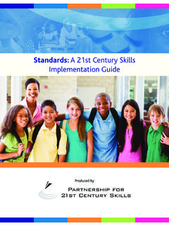 Standards: A 21st Century Skills Implementation Guide