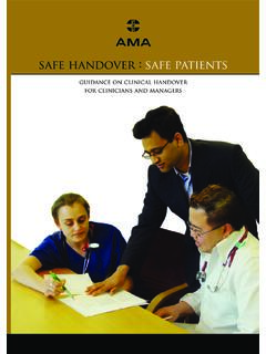 For more contact your safe handover : safe patients ama …