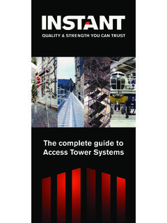 The complete guide to Access Tower Systems - Instant UpRight