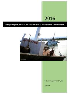 Navigating the safety culture construct: a review of the ...