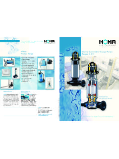 Electric Submersible Sewage Pumps HOMA …