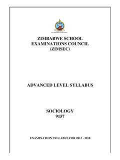 ZIMBABWE SCHOOL EXAMINATIONS COUNCIL …
