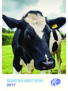ORGANIC MILK MARKET REPORT - OMSCo