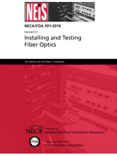 Standard for Installing and Testing Fiber Optics - thefoa.org