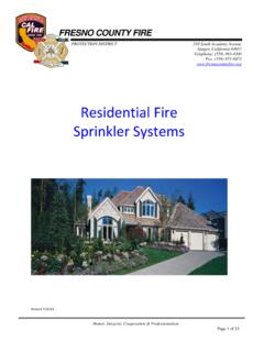 Residential Fire Sprinkler Systems Handout 7-15-11