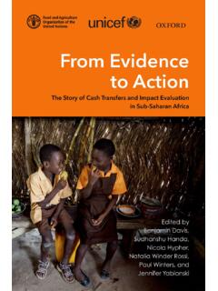 FROM EVIDENCE TO ACTION - Food and Agriculture ...