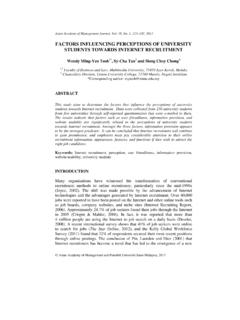 FACTORS INFLUENCING PERCEPTIONS OF UNIVERSITY ... - …