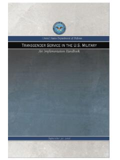 Transgender Service in the U.S. Military