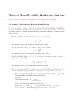 Chapter 5: Normal Probability Distributions - Solutions