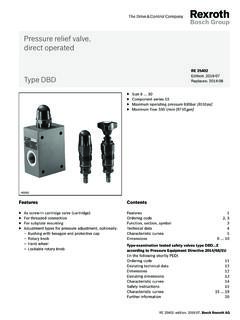 Pressure relief valve, direct-operated