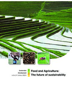 Sustainable Food and Agriculture: Development in the 21 ...