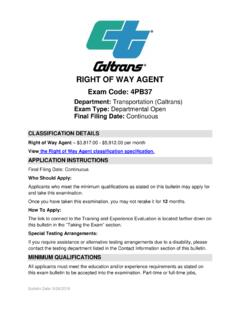 RIGHT OF WAY AGENT - CalCareers