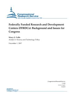 Federally Funded Research and Development Centers …