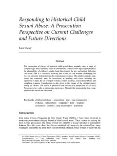 Responding to Historical Child Sexual Abuse: A Prosecution ...