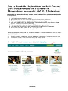Step by Step Guide: Registration of Non Profit Company ...