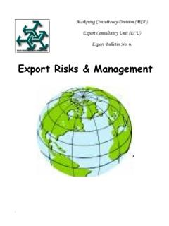 Export Risks & Management - sidf.gov.sa