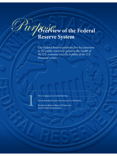 The Federal Reserve System Purposes & Functions - Section 1
